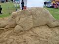 Decorating Sand Sculpture with Alison & Oriel