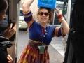 Waterbearer Ilona on way to work